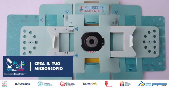 Crea il tuo microscopio - Foldscope