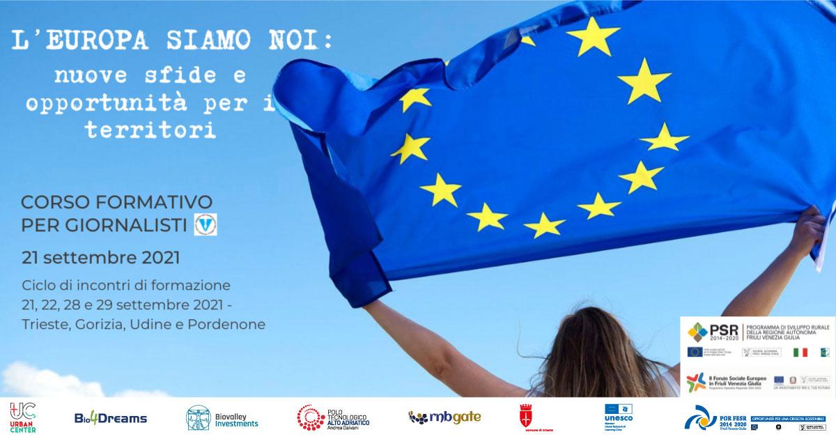Locandina | L'Europa siamo noi, nuove sfide e opportunità per i territori