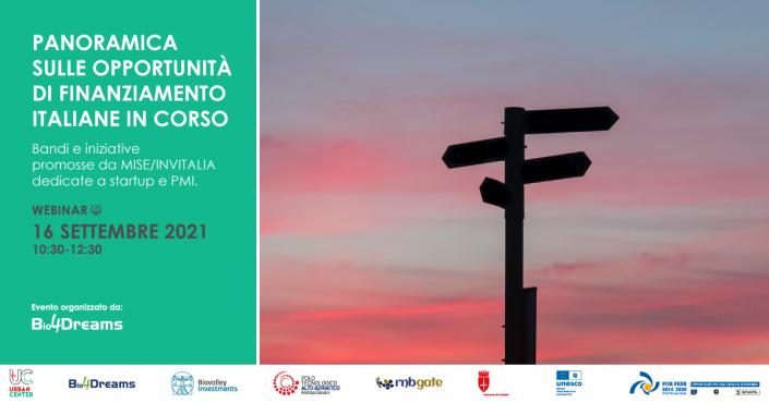 Locandina | Panoramica sulle opportunità di finanziamento italiane in corso